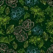 Grunge pattern with flowers — Imagen vectorial