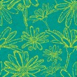 Grunge pattern with flowers - camomiles — Stockvectorbeeld