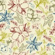 Pattern with spring flowers — Imagen vectorial