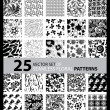 Big vector set of twenty five seamless floral patterns — Stock Vector #45337651