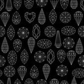 Flores de elementos de diseño de diamante — Vector de stock