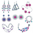 Vector set of fashion jewelry — Stock Vector #6044726