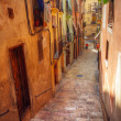 Traditional old Spanish street - Stok fotoraf