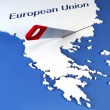 Greece secession from European Union — Stock Photo