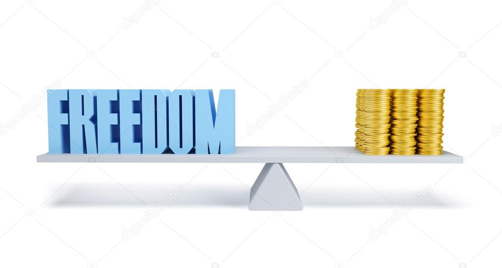 Freedom and money, business concept, 3d render — Stock Photo #12041902