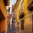 Traditional old Spanish street - Stock Photo