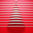 Symbolic 3d Christmas tree - Stock Photo