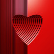 Red valentine heart — Stock Photo #18428107
