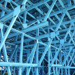 Foto Stock: Blue scaffold