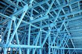 Blue scaffold — Stock Photo