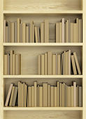 Bookcase with books — Stock Photo