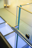 Modern glass railing — Stock Photo