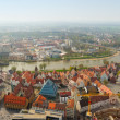 Panoramic view from Ulm Munster church, Germany — Stock Photo