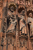Closeup view of Notre-Dame cathedral at Strasbourg, France — Stock fotografie