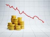 Losses at financial market — Stock Photo
