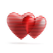 Red valentine heart — Stock Photo