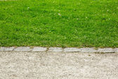 Border between footpath and lawn — Stock Photo
