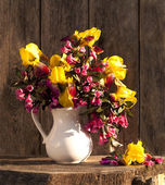 Bouquet of spring flowers — Stock Photo