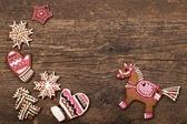 Gingerbread cookies horse — Stock Photo
