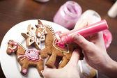 Zencefilli kurabiye — Stok fotoğraf