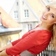 Стоковое фото: Young fashion woman in autumn color