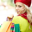 Autumn shopping woman — Stock Photo #12590973