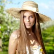 Summer girl portrait — Stockfoto