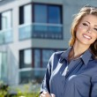 Stock Photo: Attractive Real Estate Agent Woman
