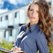 Portrait Of Female Estate Agent In Office  — Stockfoto