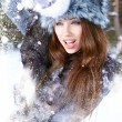 Young woman winter portrait. Shallow dof. — Stock Photo #13189981