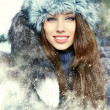 Young woman winter portrait. Shallow dof. — Stock Photo #13190015
