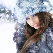 Young woman winter portrait. Shallow dof. — Stock Photo #13190027
