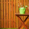 Garden tools on the wooden background — Stock Photo
