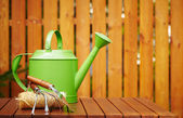 Autumn gardening tools — Stock Photo