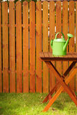 Garden tools on the wooden background — Stok fotoğraf