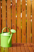 Garden tools on the wooden background — Stockfoto