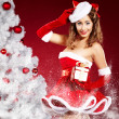 Christmas woman — Stock Photo #13254411