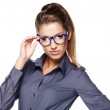 Business woman in glasses — Stock Photo #13887369