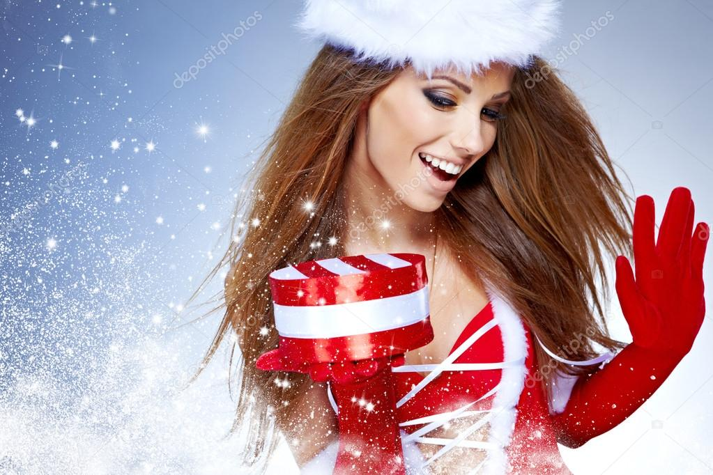 depositphotos 13900941 beautiful sexy girl wearing santa claus clothes  with christmas  sex organs. Produced within the ovaries of child bearing women, ...