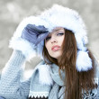Young woman winter portrait. — Stock Photo #14138486