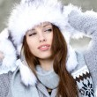 Young woman winter portrait. — Stock Photo #14138523