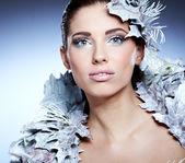 Winter queen woman — Stock Photo