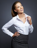 Portrait of young smiling businesswoman — Stock Photo
