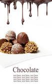 Hot chocolate pralines — Stock Photo