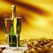 Champagne glasses on celebration table — Stock Photo #14536009