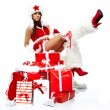 Christmas girl with gifts — Stock Photo #14536169