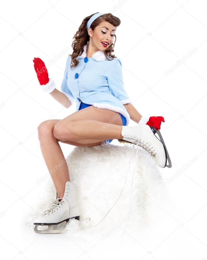 Sexy Ice Skating Woman  — Stock Photo #14944187
