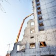Demolition of an old building - ストック写真
