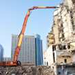 Demolition of an old building — Stock Photo