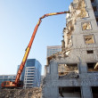 Demolition of an old building - Stock Photo